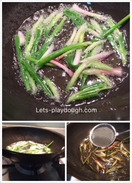 spring onions oil