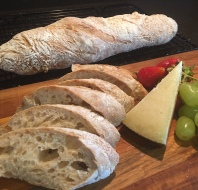 No-knead Wholemeal Baguette 全麦法棍
