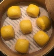 Pumpkin Chinese Steamed Bun金瓜馒头