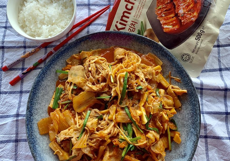 Pork Belly and Kimchi Stir-Fry韩式泡菜五花肉hán shì pào cài wǔ huā ròu