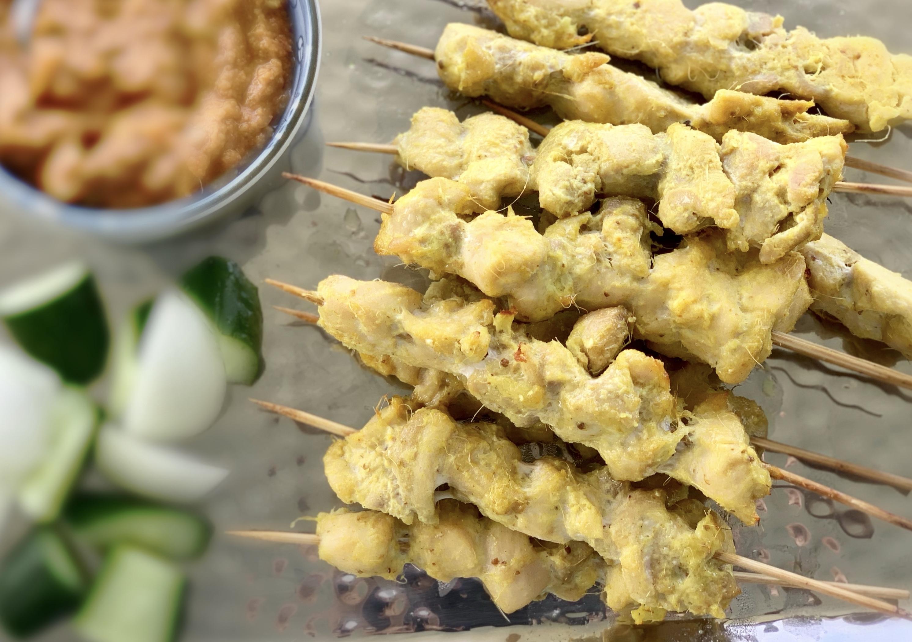 Chicken Satay沙嗲鸡肉串shā diǎ jī ròu chuàn