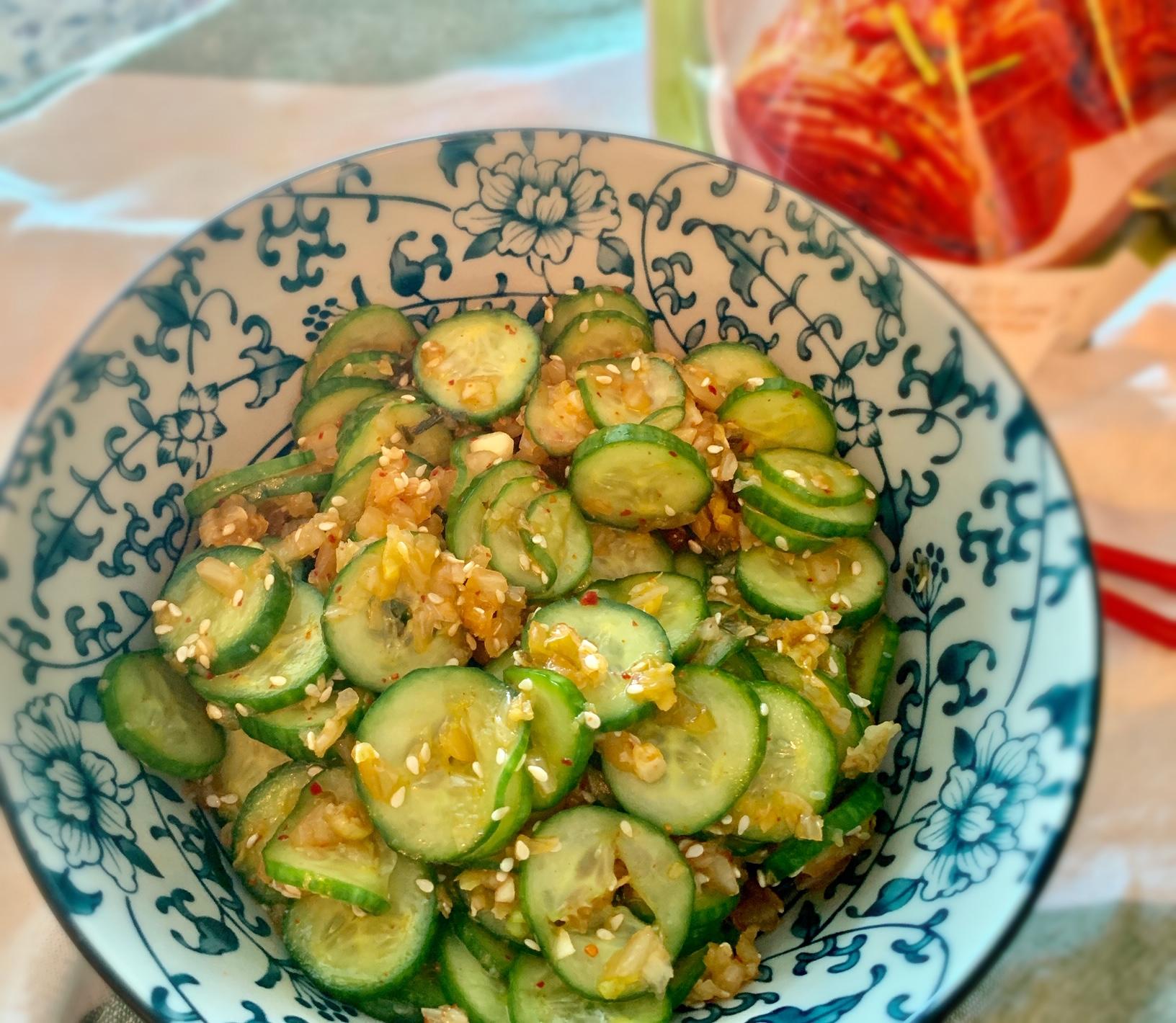 Spicy Cucumber Salad韩式辣黄瓜hán shì là huáng guā