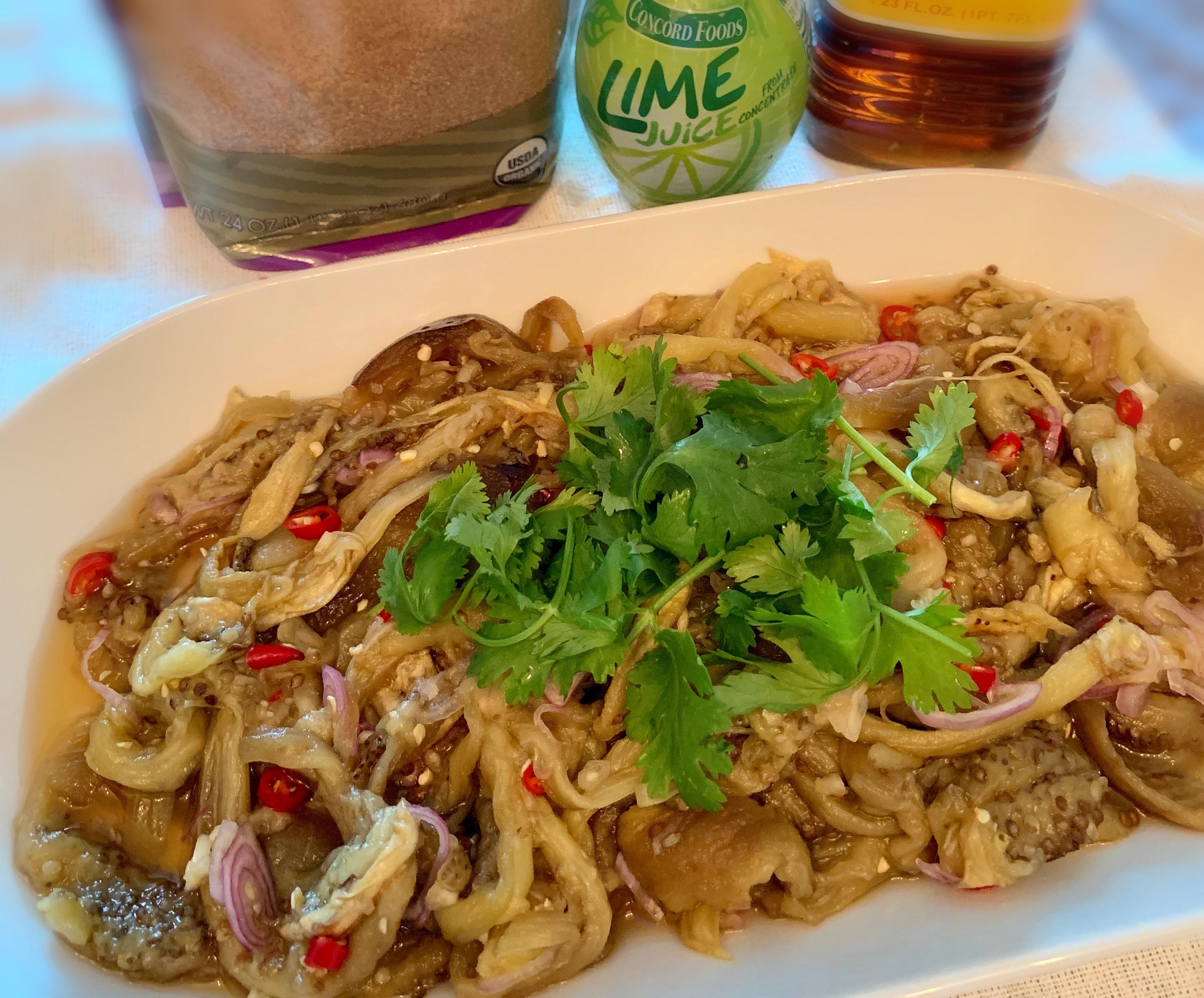 Thai-style Baby Eggplant Salad泰式茄子沙拉tài shì qié zǐ shā lā