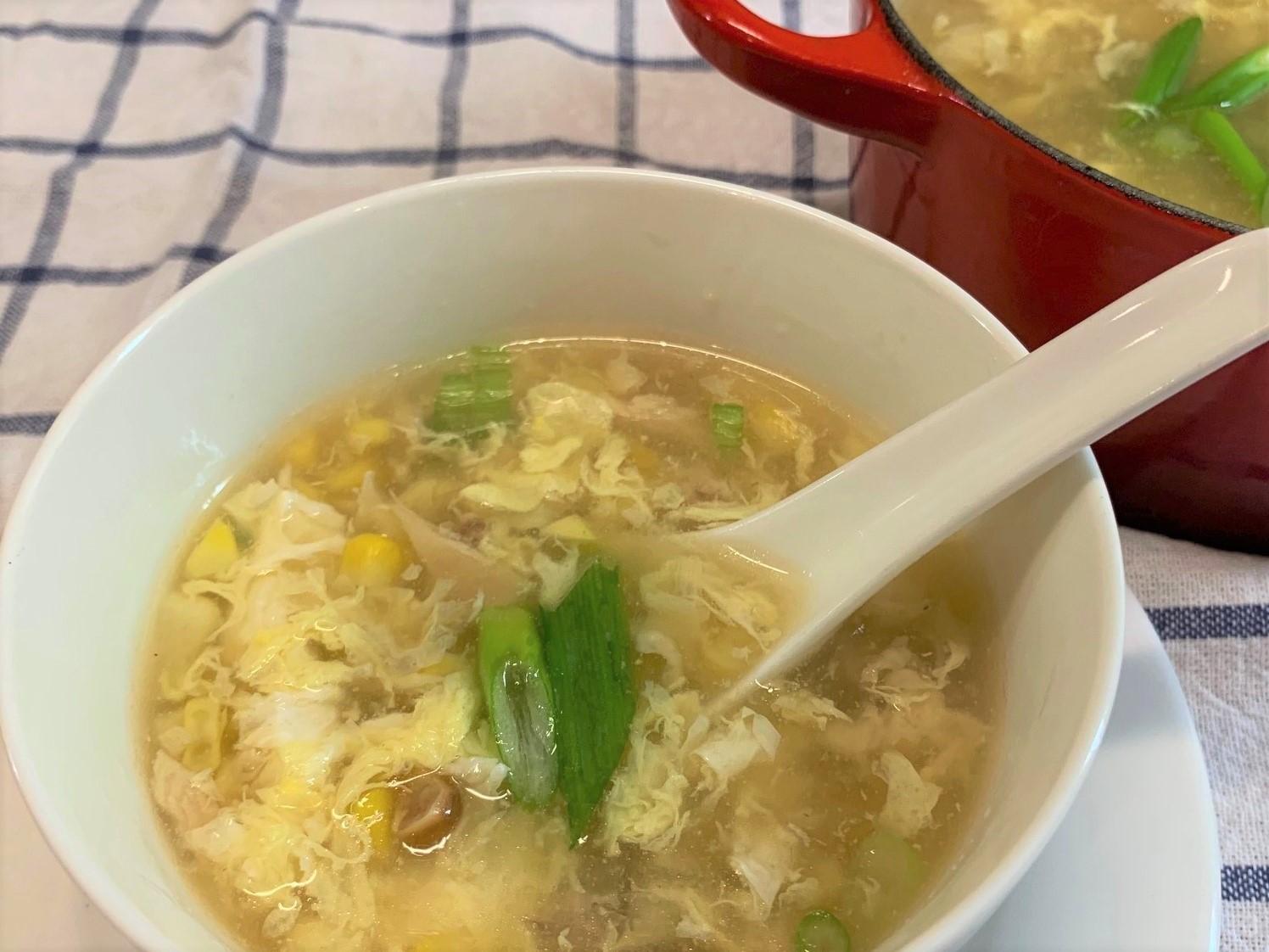 Chicken Corn Soup 鸡茸玉米羹jī róng yù mǐ gēng