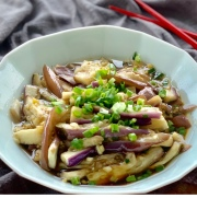 Steamed Eggplant with Garlicky Dressing凉拌茄子
