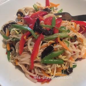 Vegetable Salad with Vinegar Dressing五彩时蔬