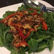 Spinach and Warm Mushroom Salad