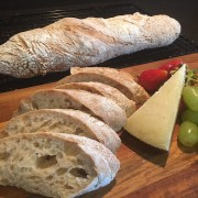 No-knead Wholemeal Baguette全麦法棍