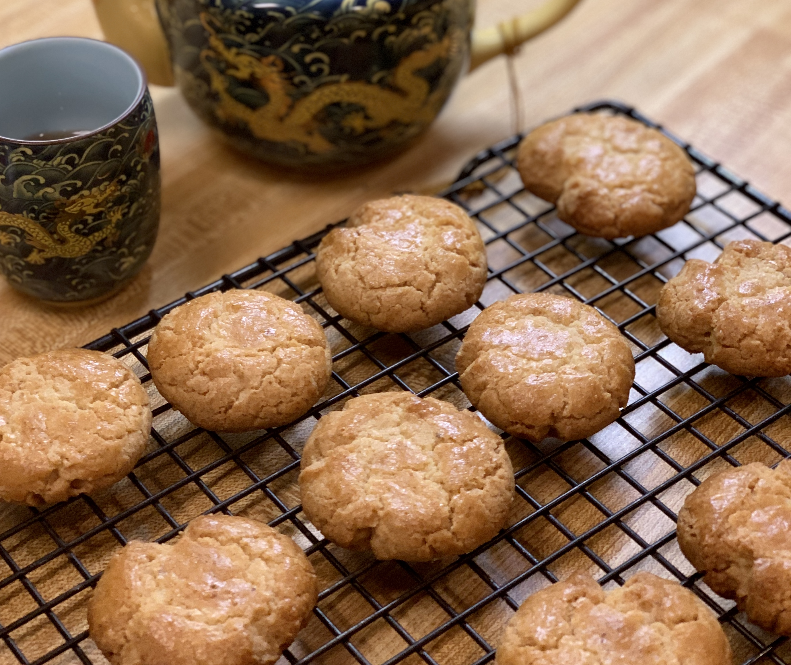 Chinese Walnut Cookies核桃酥hé táo sū