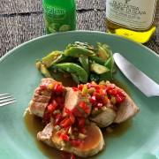 Baked Pork Loin with Thai Sweet & Sour Sauce烤猪柳