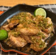 Simply Roasted Chicken with Jalapeno-Shallots-Garlic Sauce