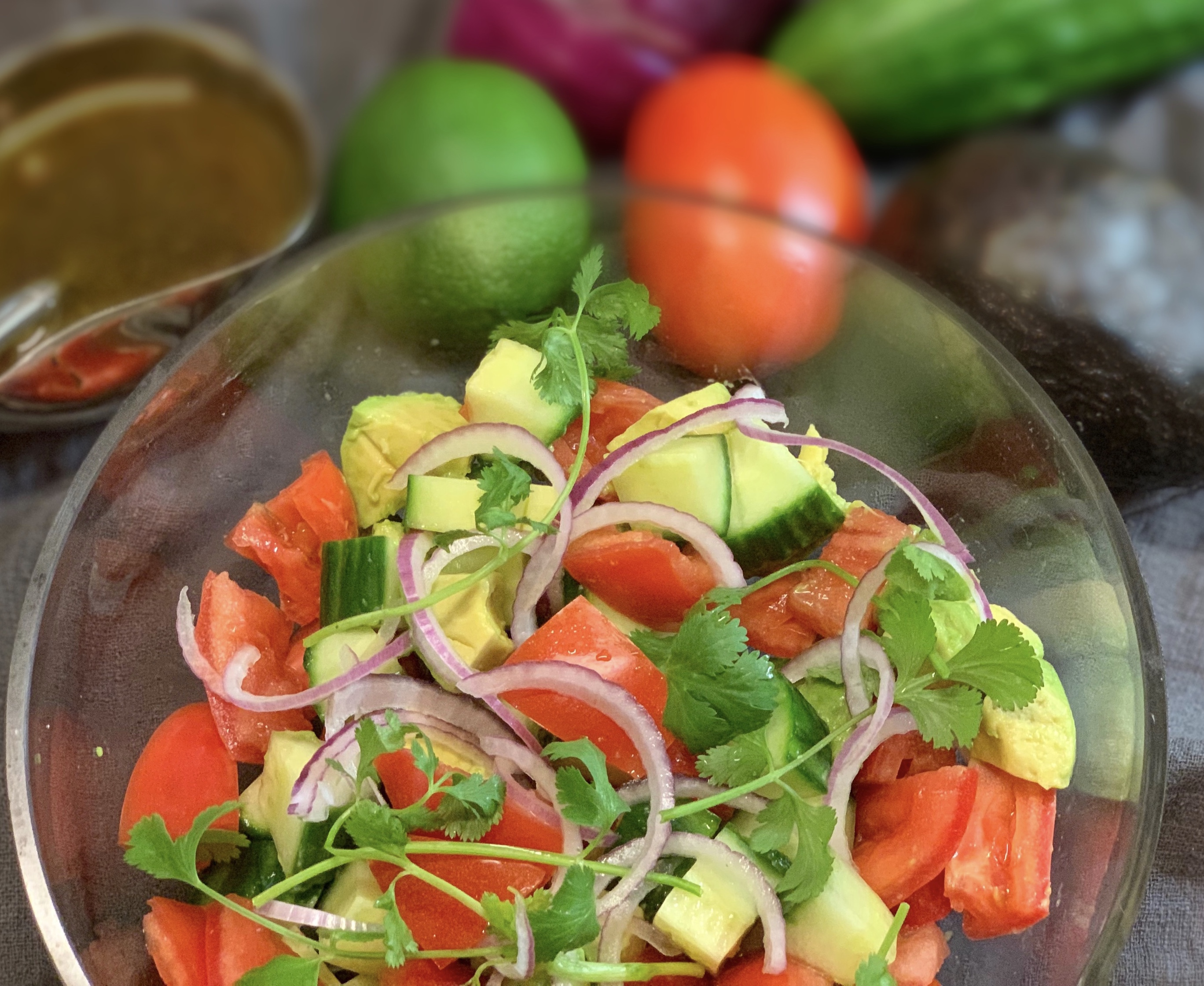Avocado, Tomato and Cucumber Salad
