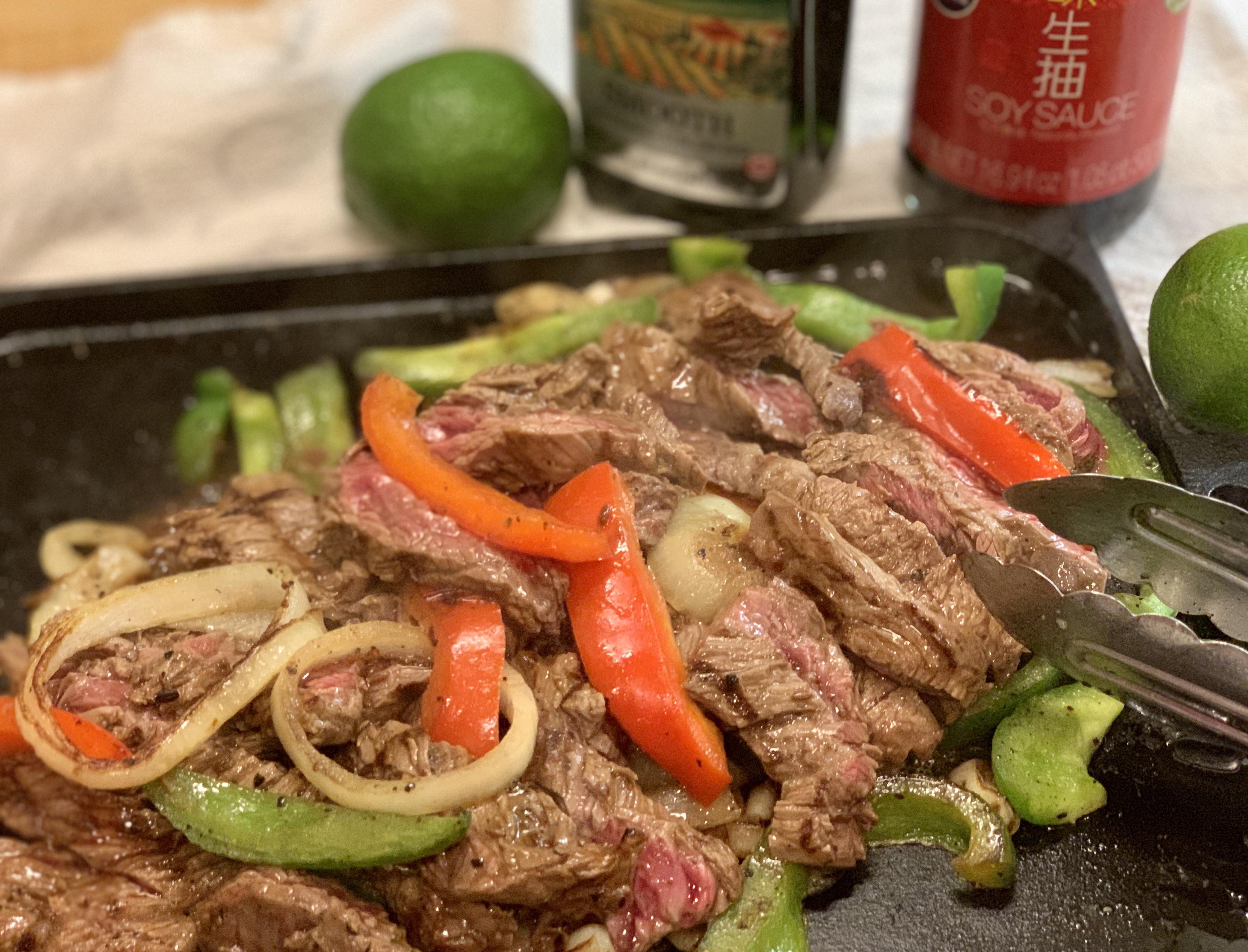 Steak Fajitas墨西哥烤肉卷mò xī gē kǎo ròu juàn