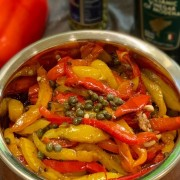 Grilled Bell Peppers & Capers Salad 意式彩椒