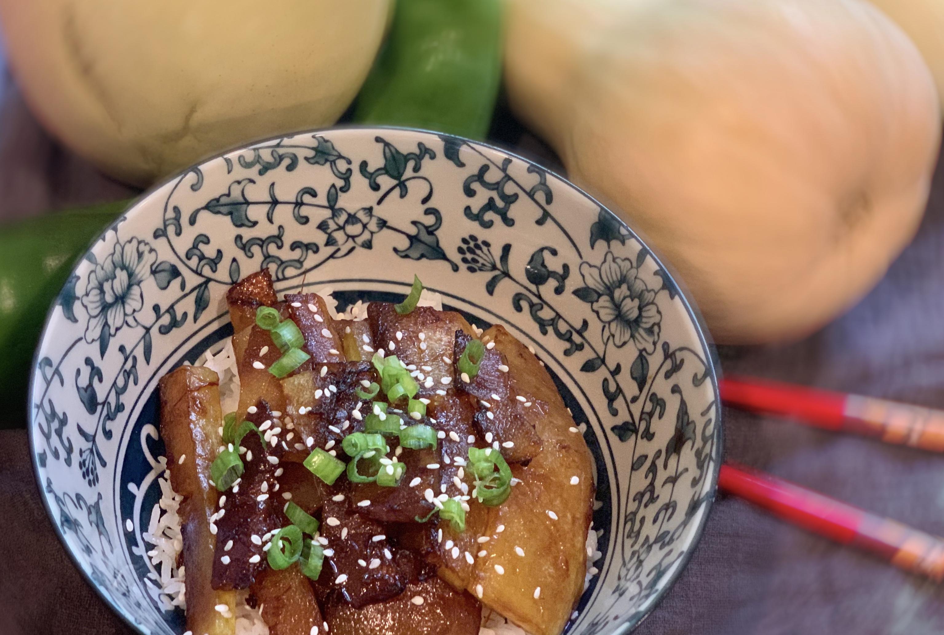Soy-glazed Squash Rice Bowl